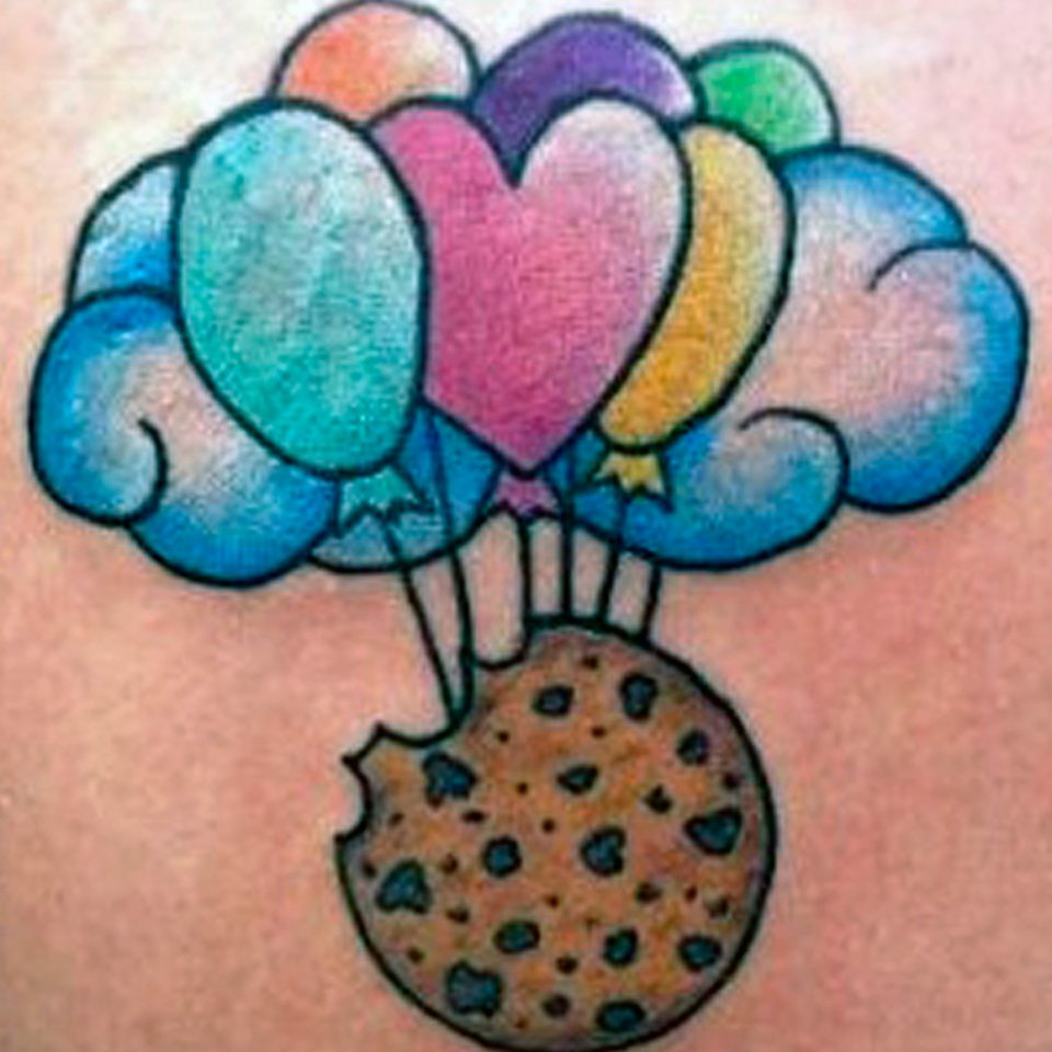 Tattoo Cookie globos a color