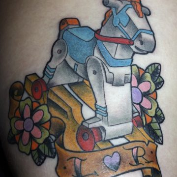 Tattoo play school tradicional en color