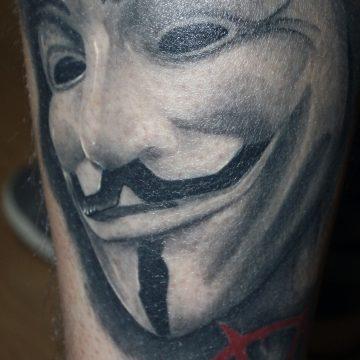 Tattoo realista V de Vendeta