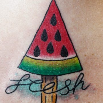 Tattoo sandia fresh color