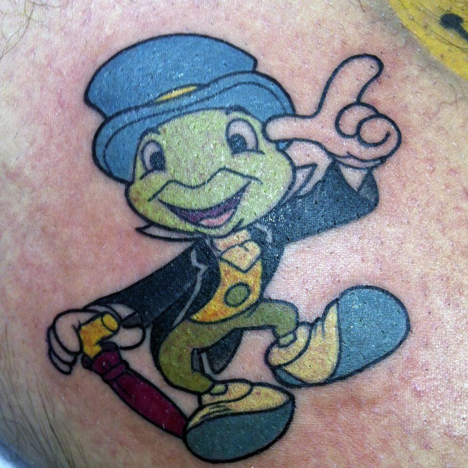 Tattoo tradicional Pepito Grillo